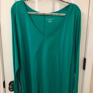 Woman's size 22/24 green v neck long sleeved